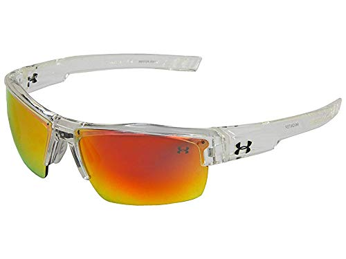 Under Armour Igniter Multiflection Sunglasses, Crystal Clear Frame/Gray, Orange & Multi Lens, One Size