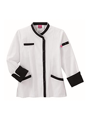 Jacket Chefs Executive (Five Star Chef Apparel Ladies Long Sleeve Executive Coat with Moisture Wicking Mesh Back (White, X-Large))