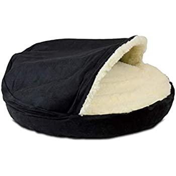 Snoozer Luxury Orthopedic Cozy Cave Pet Bed, Large, Black