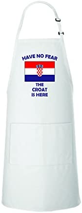 Have No Fear Croatian Is Here Croatia Croatians Adjustable Bib Kitchen Apron