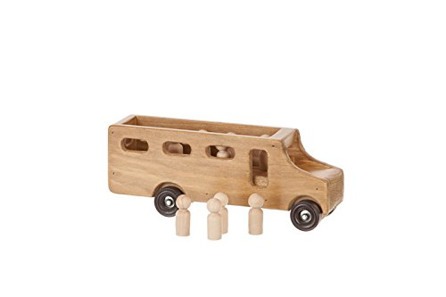(Amish-Made Wooden School Bus Toy)