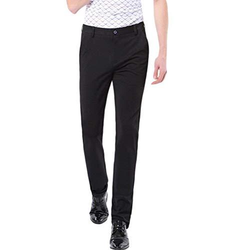 Giovane Tessuto In Da Uomo Stretch Colori Fit Chino Yasminey Morbido Pantaloni Molti Elastici Slim Cotone Nero 8xBCBAnz