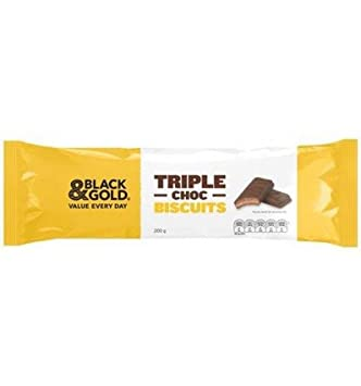 Amazoncom Black Gold Triple Chocolate Biscuits 200g