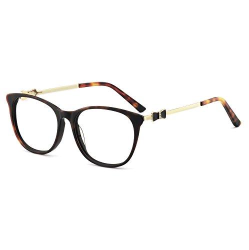 - OCCI CHIARI Women Casual Eyewear Frames Non-prescription Clear Lens Eyeglasses 52mm (Tortoise)