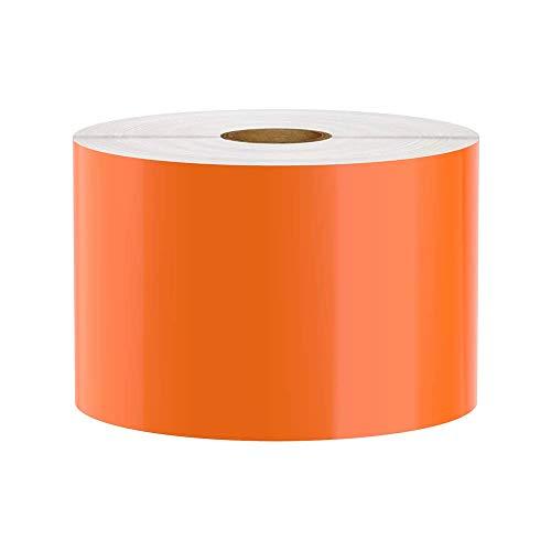 Premium Vinyl Label Tape for DuraLabel, LabelTac, SafetyPro and Others, Orange, 3