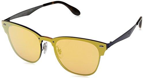 Ray-Ban Kids' Metal Unisex Non-Polarized Iridium Square Sunglasses, Demigloss Black, 58 - Collection Ban Ray Blaze