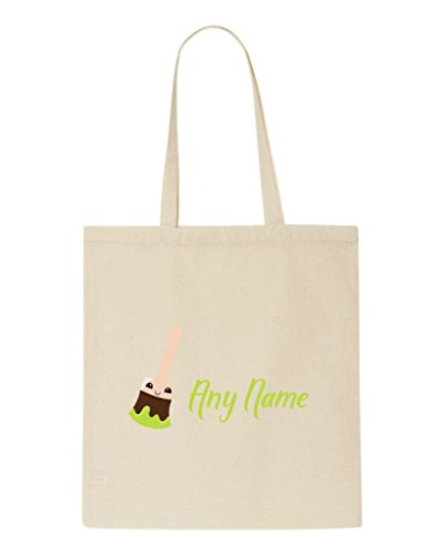 Back Text Personalised Green Gift Shopper Paint Beige Brush Tote To Teacher And School Bag With Appreciation wIqHgY