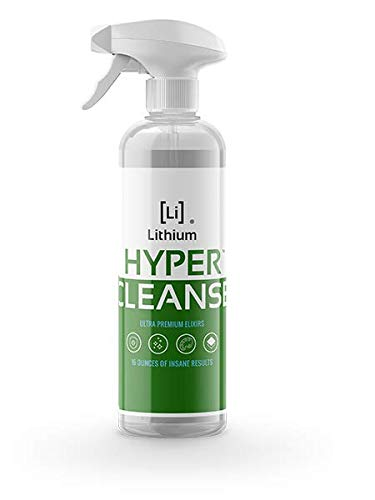 Lithium Hyper Cleanse- All Purpose Cleaner- Newest Science in Cleaning Leather, Plastic, Carpet, Vinyl, Removes The Toughest Stains, Protects, Penetrates Even Cracks and Grooves. (16oz)