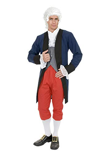 Charades Men's Benjamin Franklin Colonial Man, Multi-Color, ()