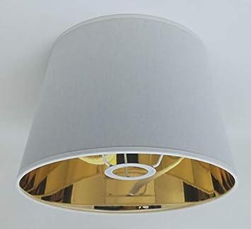 ArG Lighting - Pantalla para lámpara de Mesa, 25,4 cm, Color Negro y Blanco: Amazon.es: Hogar