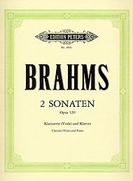 (Clarinet Sonatas By Johannes Brahms. Edited By Heinrich Bading and Carl Herrmann. For Bb Clarinet (Or Viola) and Piano. Classical Period. Diff: Medium to Medium-difficult. Set of Performance Parts (Viola Included). Solo Part and Piano. Opus 120.)