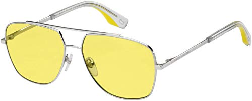 Marc Jacobs Women's Aviator Sunglasses, Pal Yellow/Clear Mirror, One Size (Marc By Marc Jacobs Aviator)