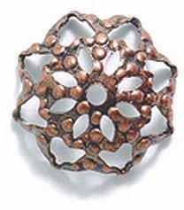 Caps Bead Copper Antique - Shipwreck Beads Electroplated Brass Filigree Bead Cap, 10mm, Metallic, Antique Copper, 25-Piece