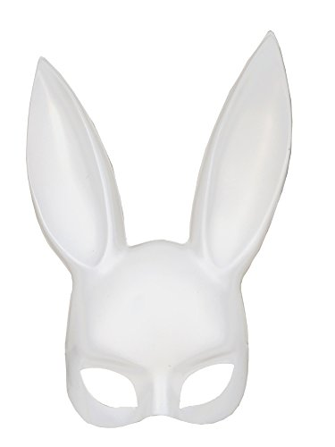 Novelty Giant Adult Deluxe Sexy Bunny Half Mask White -