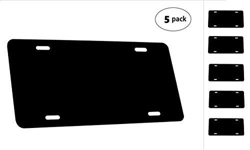Partsapiens Corp. (5 Pack-$4.49/Each) Anodized Aluminum License Plate Blanks Gauge .020 (0.5mm) - 12x6