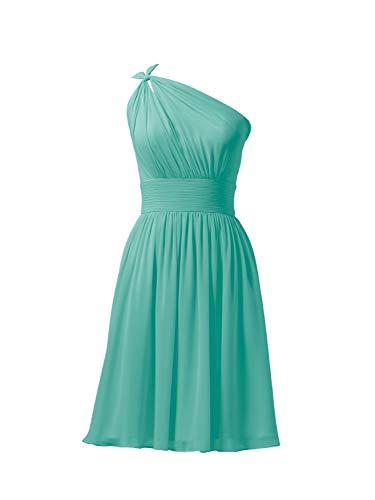 Alicepub Chiffon Bridesmaid Dresses Short Prom Party Dress Evening Gown Formal Gown, Tiffany, US14