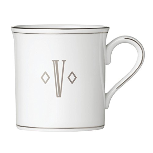Lenox 874500 Federal Platinum Monogrammed Mug