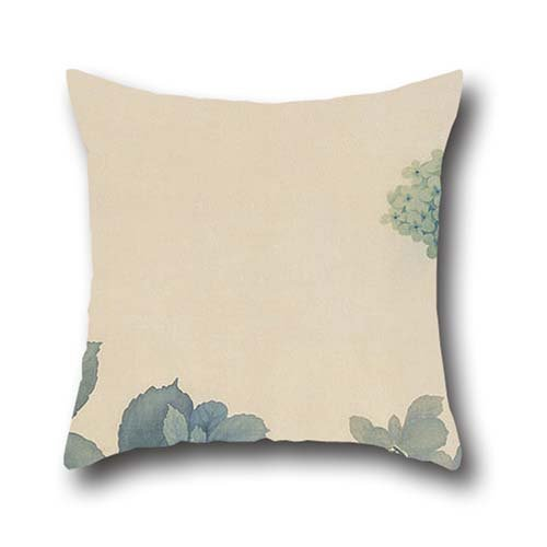 Welcome Hydrangea (Throw Pillow Covers Of Oil Painting Hishida Shunso - Hydrangeas,for Dining Room,monther,drawing Room,christmas,kids 16 X 16 Inches / 40 By 40 Cm(each Side))
