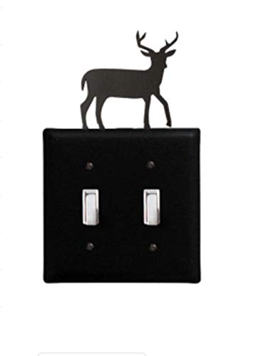 Deer Switch Cover (Double) Antler Double Switch Cover
