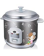 PowerPac Premium Rice Cooker with Aluminum Pot, 0.6L,(MC162) Grey