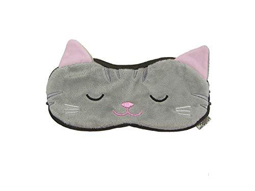 Eye Mask Shades Blindfold Sleeping Warm Cold Gel Pack Travel Comfortable Nights Bestever (Cat-Grey)