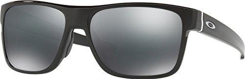 Oakley Men's Crossrange Non-Polarized Iridium Square Sunglasses, Polished Black, 57 - Glasses Range Oakley