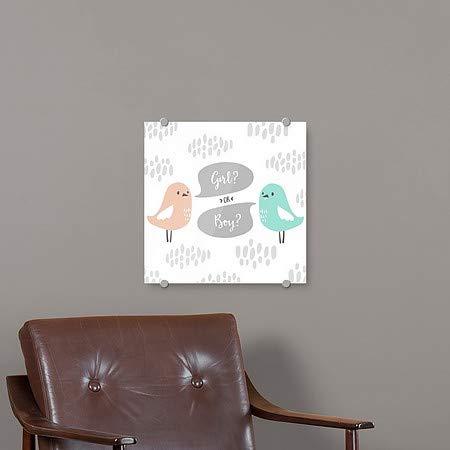 Inner CircleGender Reveal -Birds -Square Premium Acrylic Sign | 16x16 5-Pack CGSignLab
