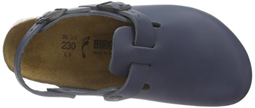 Birkenstock Tokio Leder, Sabots mixte adulte, Bleu (Blau), L6 M4 37,0