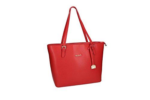 Borsa Da Donna Tracolla Pierre Cardin Rosso In Pelle Made In Italy Vn1079