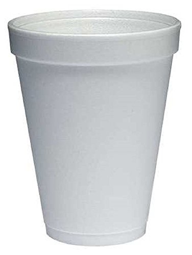 Dart 12J12 Foam Cup Hot or Cold, 1000 per Case, 12 oz. Dart Dart Foam Cup