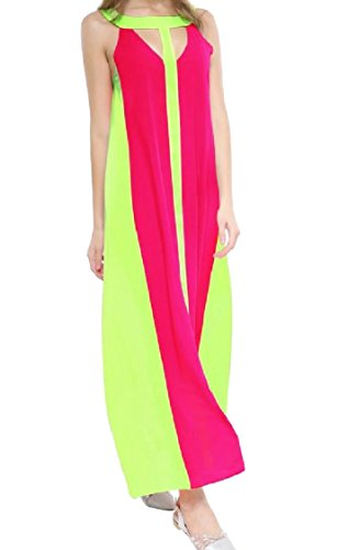 Ha Vestito Colore Oscillare Sexy Lungo Maniche donne Moda Dalla 2 Spiaggia Coolred Senza Colpito x10pwBqCE