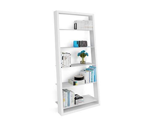 BDI Furniture 5157 SW Eileen Blanc Leaning Shelf - Satin White Finish Bookshelf,