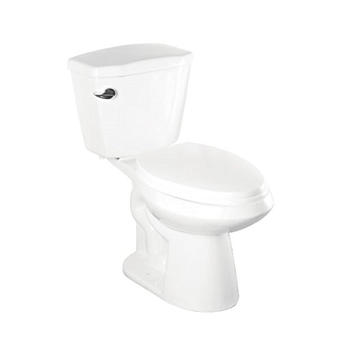 abolos classic comfort height elongated 128 gpf toilet with siphon jet flush technology u0026 lefthand trip lever 2 piece