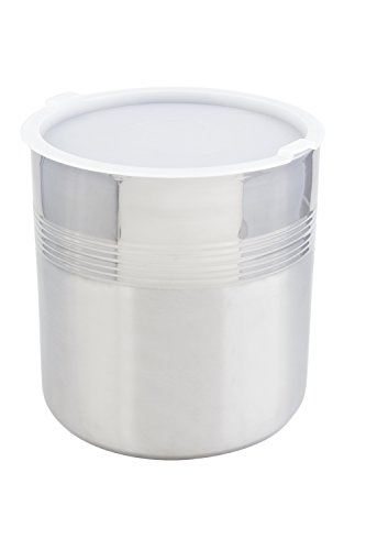 Bon Chef 9321 Stainless Steel 3 Wall Cold Wave Ice Cream Container with Cover, 3 gal Capacity, 10-1/2