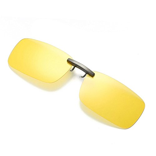 Mchoice Detachable Night Vision Lens Driving Metal Polarized Clip On Glasses Classic Sunglasses - Driving Sunglasses When