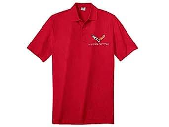 Corvette C7 Blue Pointe Polo Shirt With