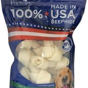 Knotted Dog Rawhide Chews Bones (Pet Factory 78114 Beefhide Dog Bones 4-5