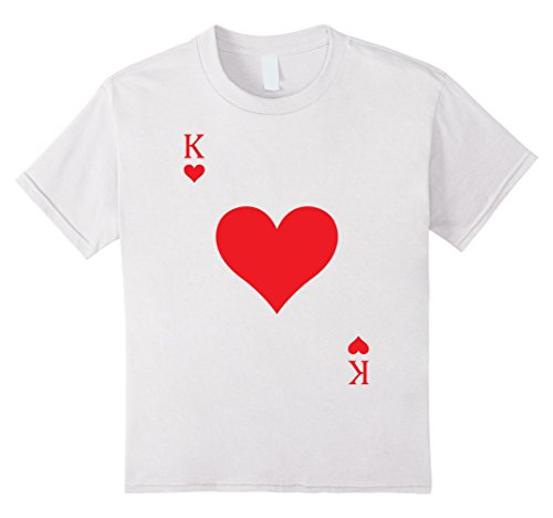 King Of Hearts Costume Kids (Kids Deck Cards King Hearts Costume T-Shirt Halloween 4 White)