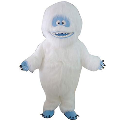 Bumble Snowman Mascot Costume Yeti Abominable Christmas Cartoon Cosplay Fancy Dress (One Size
