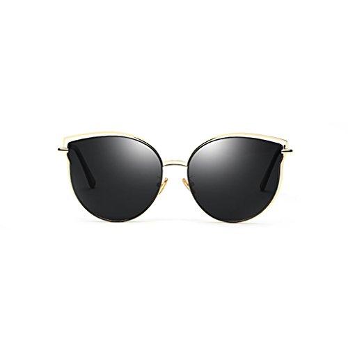 de Soleil Lunettes de UV de Soleil Lunettes voyageant Mode de Cateye Black 400 Vacances conduisant Lunettes de Miroir Moderne vqzxCYvTw