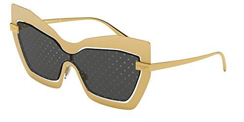 Dolce & Gabbana Women's DG2224 Sand Gold/Dark Grey Gold One Size (Dolce And Gabbana Fall Winter 2013 Gold Shoes)