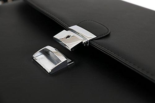 DEERLUX Men's Leather Laptop Briefcase, Black, One Size by DEERLUX (Image #7)