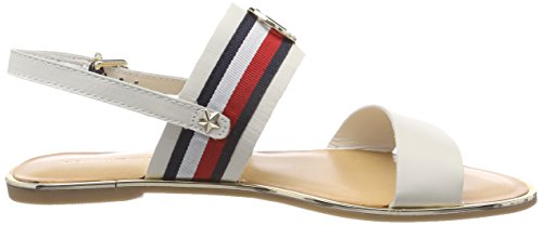 Blue Flat Women's Tommy Ribbon Corporate Back Whisper White Sling 121 Hilfiger 4 Dark White Sandals UK zgAqgwxa