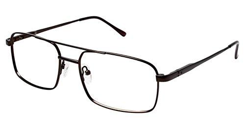 LAmy C by L'AMY 614 Eyeglass Frames - Frame BROWN, Size -