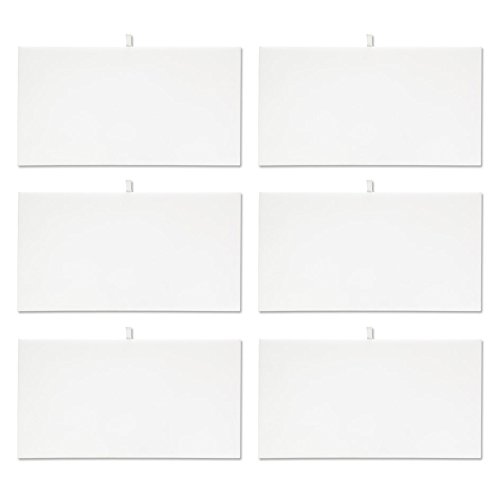 White Tray Inserts Displays - Mooca 6 Pieces White Faux Leather Cover Padded Wood Jewelry Display Pad Tray Inserts 14 1/8