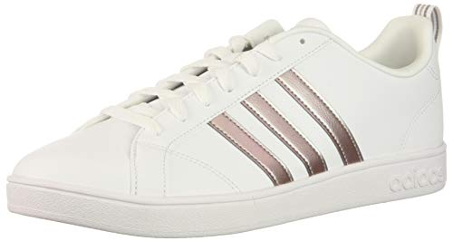 adidas Performance Women's Vs Advantage Sneaker, White/Vapor Metallic/Pea Green, 7.5 M ()