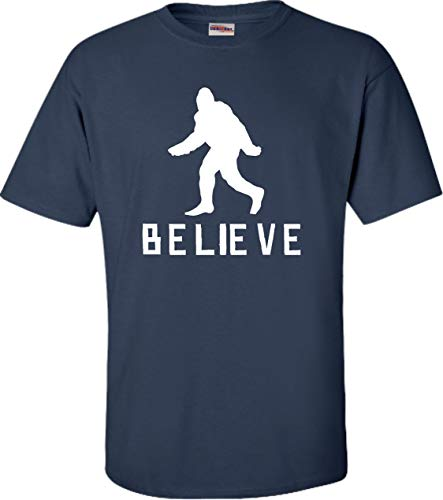 Go All Out XX-Large Navy Blue Adult Bigfoot Believe Sasquatch Squatch T-Shirt