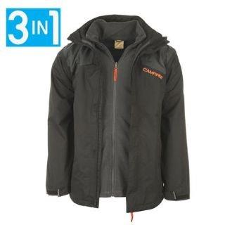 Campri 3 in 1 Waterproof Jacket Mens Black/Charcoal Extra Lge ...