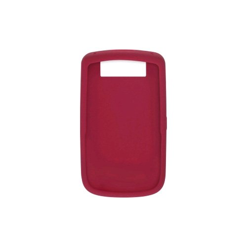 OEM DARK RED MERLOT Blackberry Silicone Rubber Gel Skin Case Cover for Tour 9630 and Bold 9650 (Case 9630 Rubberized)