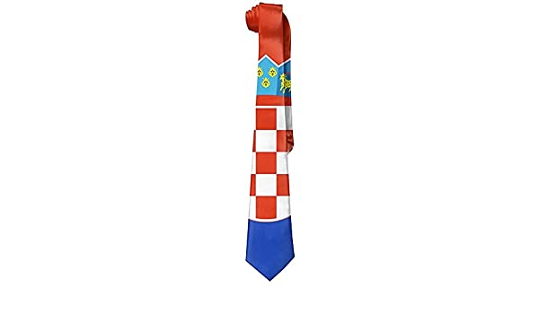 LVOE TTL Bandera de Croacia Corbata flaca de ocio para hombre ...
